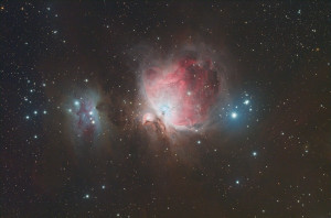 Great Orion Nebula and Running Man